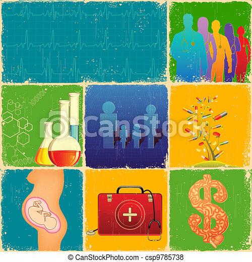 Medical Collage - csp9785738