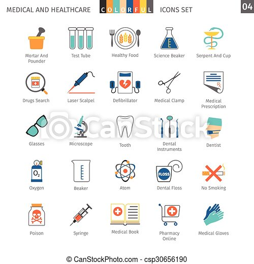 Medical Colorful Icons Set 04 - csp30656190