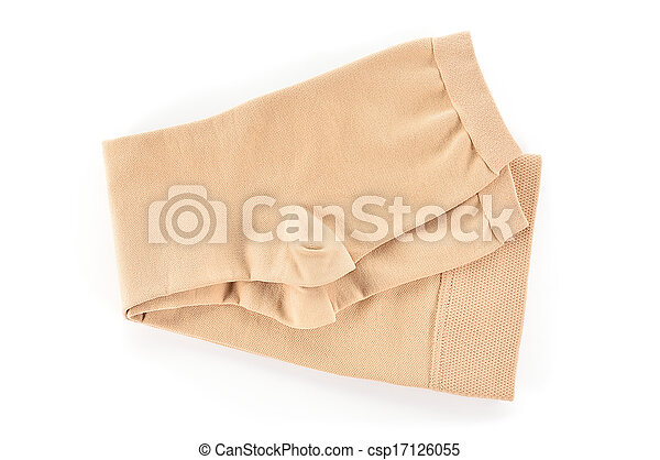 Medical compression stockings on white background. - csp17126055