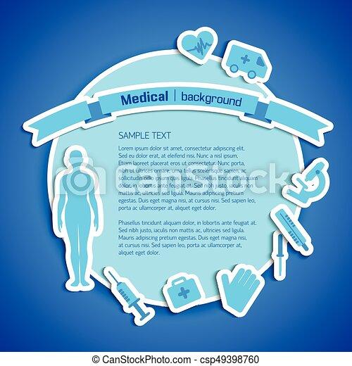 Medical concept text field - csp49398760