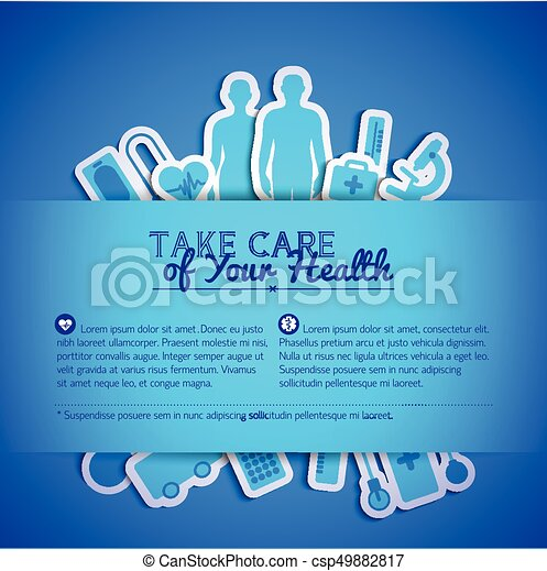 Medical concept text field - csp49882817