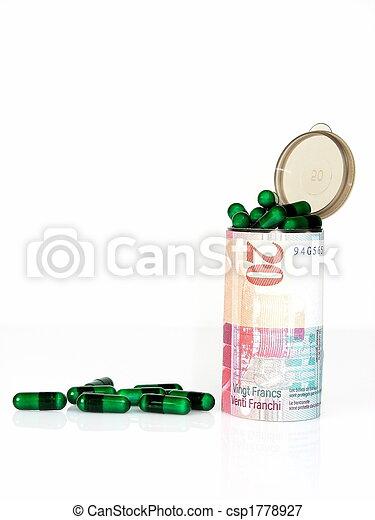 Medical costs - Swiss francs - csp1778927