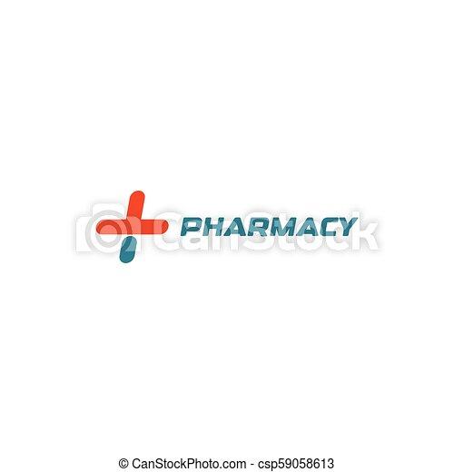 Medical cross, Health logo, Vector icon - csp59058613