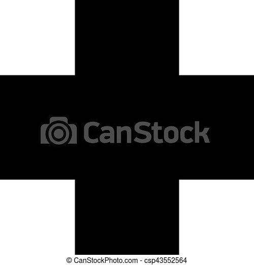 Medical cross icon - csp43552564