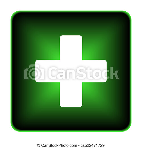 Medical cross icon - csp22471729