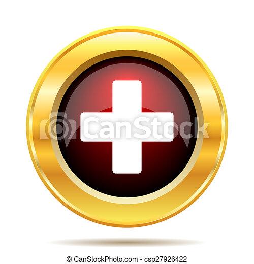 Medical cross icon - csp27926422