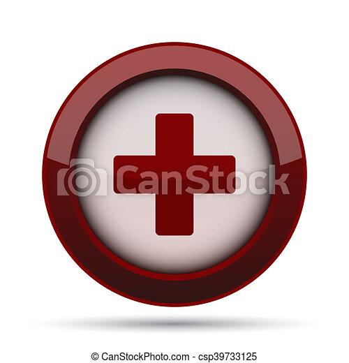 Medical cross icon - csp39733125