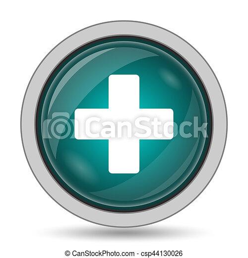Medical cross icon - csp44130026