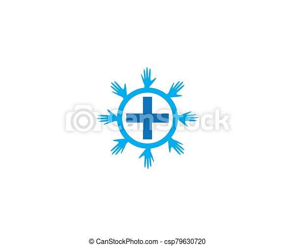 Medical cross icon - csp79630720