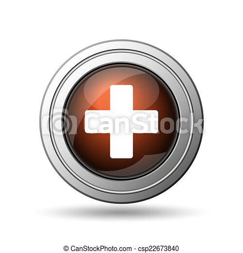 Medical cross icon - csp22673840