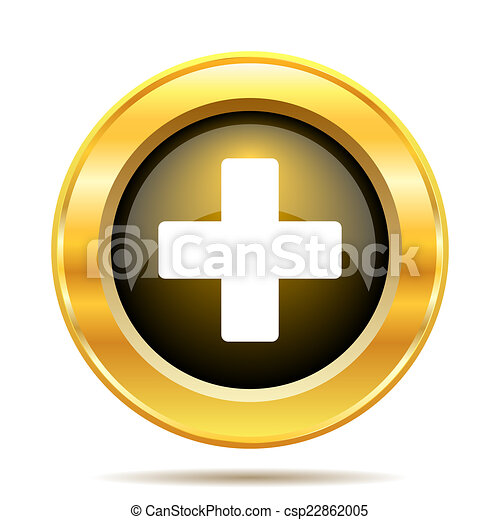 Medical cross icon - csp22862005