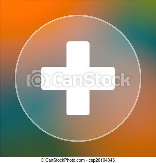 Medical cross icon - csp26104046