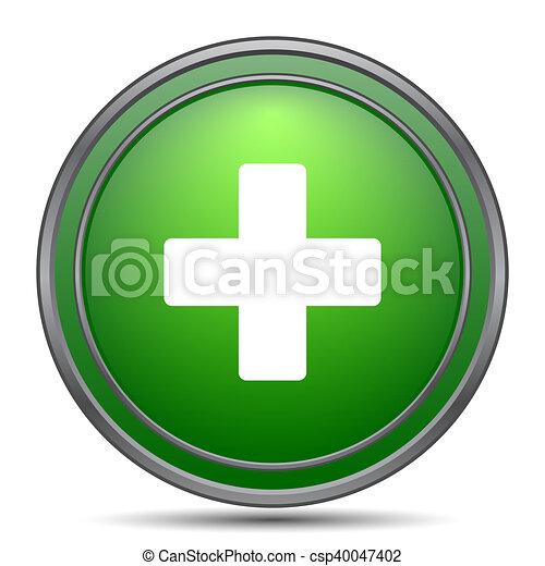 Medical cross icon - csp40047402