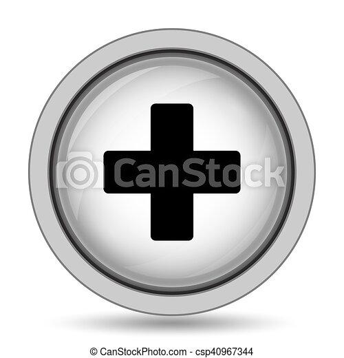 Medical cross icon - csp40967344