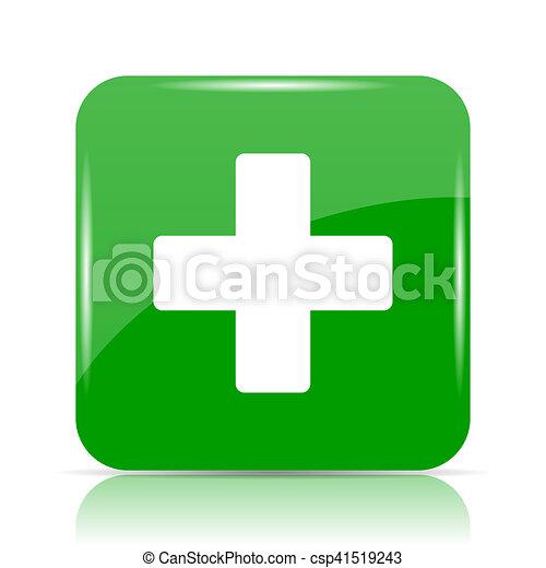 Medical cross icon - csp41519243