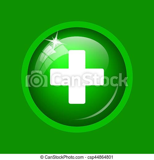 Medical cross icon - csp44864801