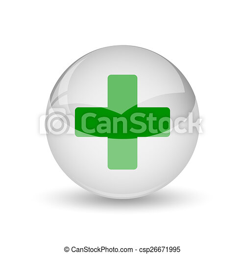 Medical cross icon - csp26671995