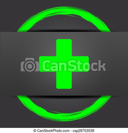 Medical cross icon - csp28703538
