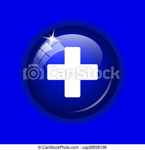 Medical cross icon - csp38838196