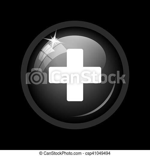 Medical cross icon - csp41049494