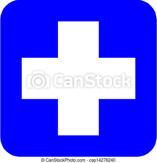 Medical cross icon - csp14276240