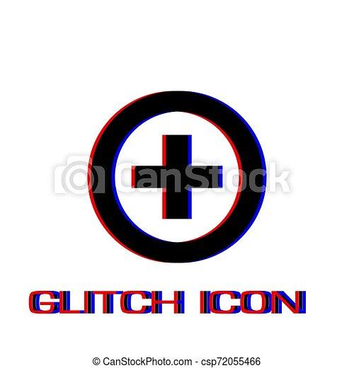 Medical cross icon flat - csp72055466
