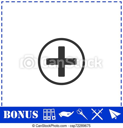 Medical cross icon flat - csp72289675