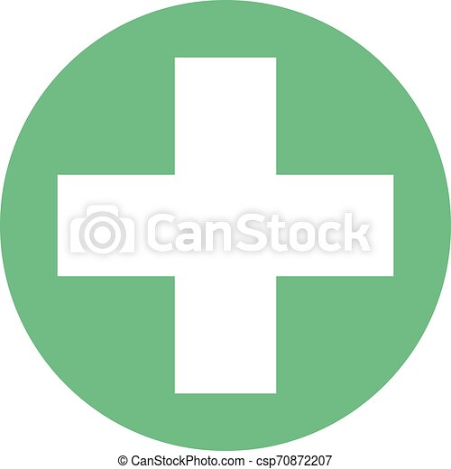 Medical Cross Icon. Health Care Illustration As A Simple Vector Sign and Trendy Symbol for Design and Websites, Presentation or Mobile Application. - csp70872207