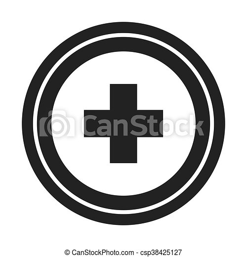 medical cross icon - csp38425127