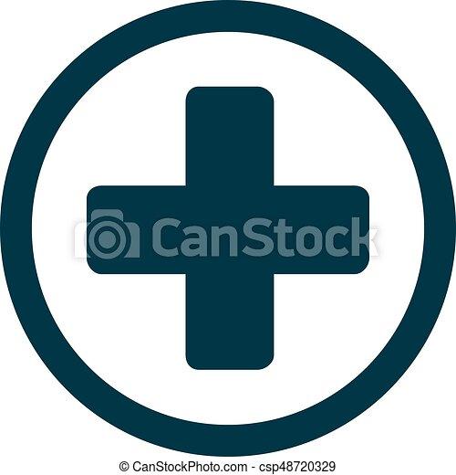 Medical cross icon - csp48720329
