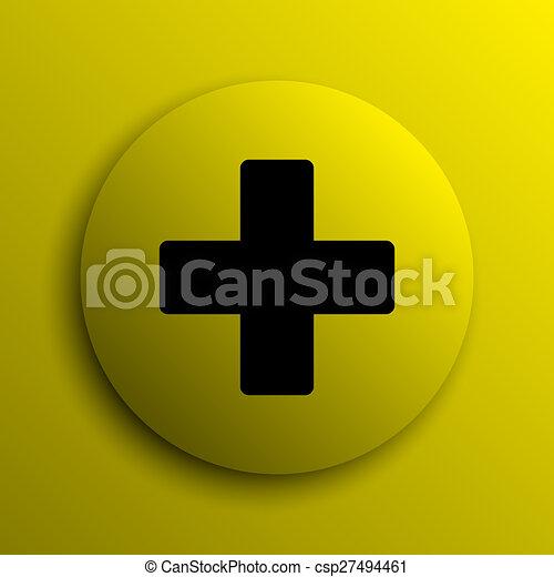 Medical cross icon - csp27494461