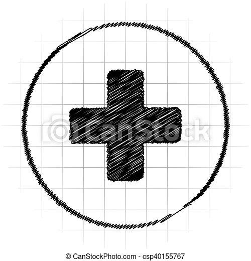 Medical cross icon - csp40155767