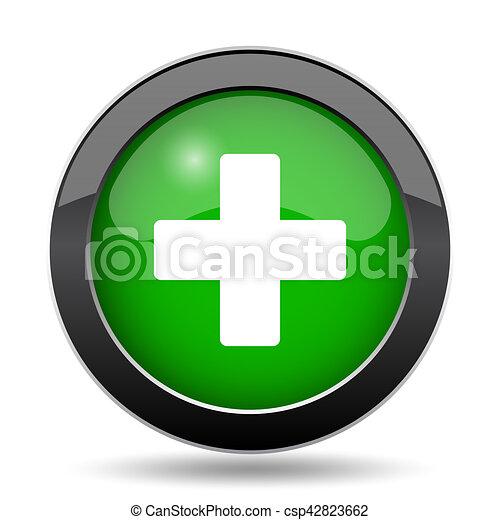 Medical cross icon - csp42823662