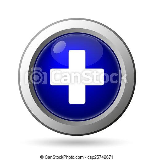 Medical cross icon - csp25742671