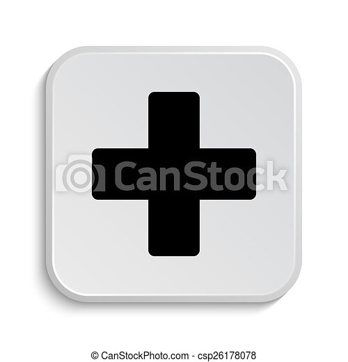 Medical cross icon - csp26178078