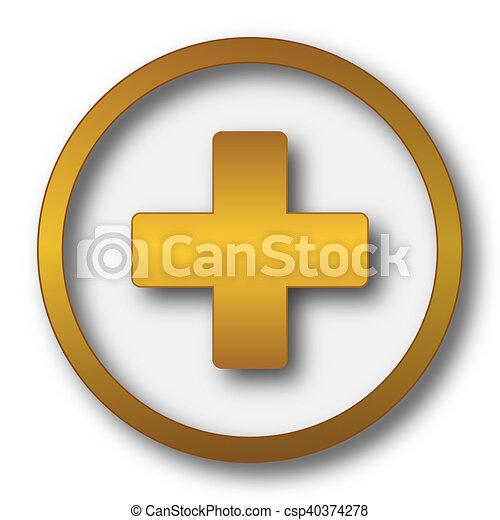 Medical cross icon - csp40374278