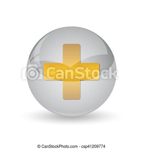 Medical cross icon - csp41209774