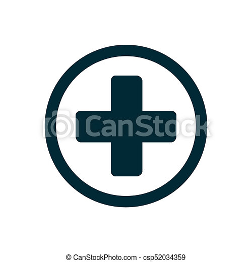 Medical cross icon - csp52034359