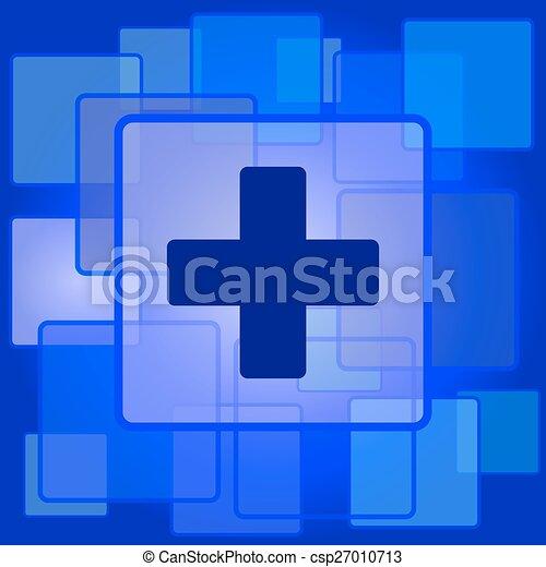 Medical cross icon - csp27010713