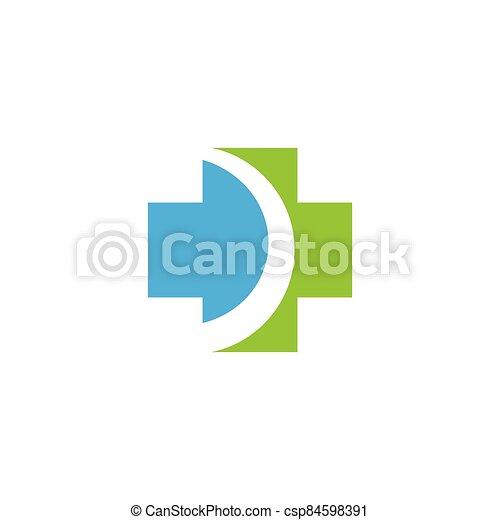 Medical cross logo template vector icon - csp84598391