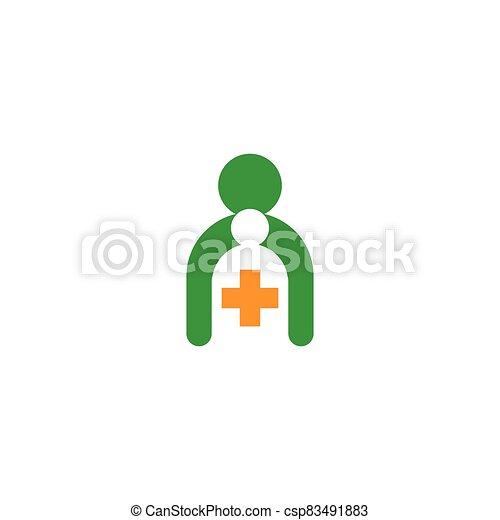 Medical cross logo template vector icon - csp83491883