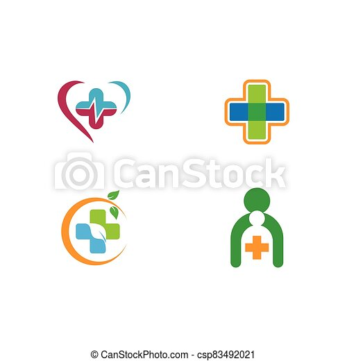 Medical cross logo template vector icon - csp83492021