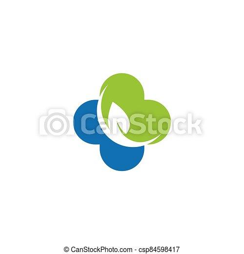 Medical cross logo template vector icon - csp84598417