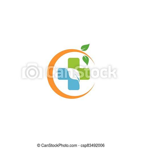 Medical cross logo template vector icon - csp83492006