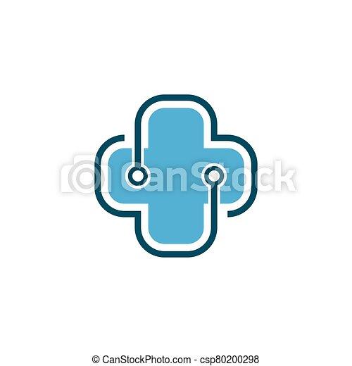 Medical cross logo vector icon - csp80200298