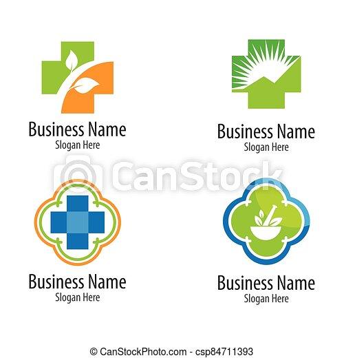 Medical cross logo vector icon - csp84711393