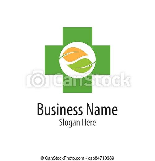 Medical cross logo vector icon - csp84710389