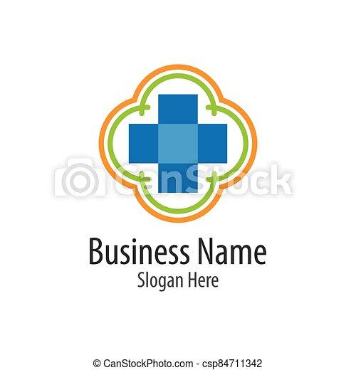 Medical cross logo vector icon - csp84711342