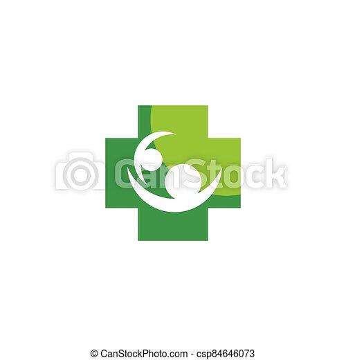 Medical cross logo vector icon - csp84646073