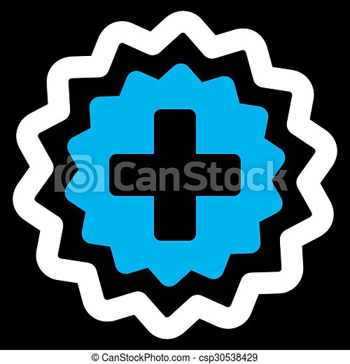 Medical Cross Stamp Icon Medical Cross Stamp Vector Icon Style Is
